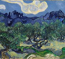 Vincent Van Gogh - The Olive Trees, 1889 by famousartworks