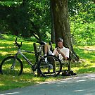Relaxing After The Ride by Susan Savad