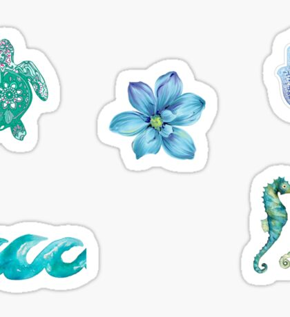 Blue Boho Tumblr Sticker