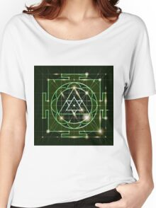 Ganapati Yantra - cosmic conductor of energy. Yantra Sree Ganesha. Sacred Geometry Women's Relaxed Fit T-Shirt