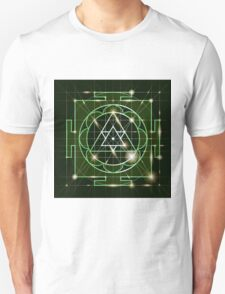 Ganapati Yantra - cosmic conductor of energy. Yantra Sree Ganesha. Sacred Geometry T-Shirt
