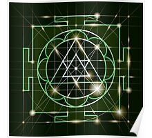 Ganapati Yantra - cosmic conductor of energy. Yantra Sree Ganesha. Sacred Geometry Poster
