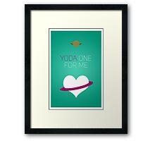 Yoda One For Me - Star Wars Love Framed Print