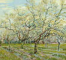 Vincent Van Gogh - The white orchard, April 1888 - 1888 by famousartworks