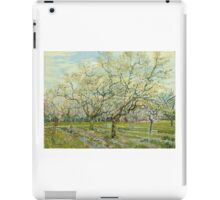 Vincent Van Gogh Post- Impressionism Oil Painting The white orchard, April 1888 - 1888 iPad Case/Skin