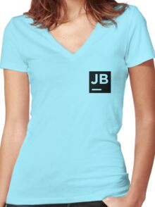 Jetbrains logo Women's Fitted V-Neck T-Shirt