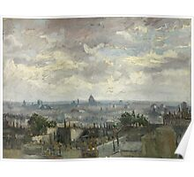 Vincent Van Gogh - View of Paris, June 1886 - July 1886 Poster