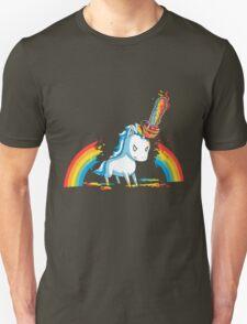 Rainbow Chainsaw Unicorn  T-Shirt