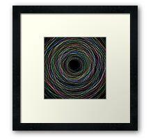 Hand Drawn Circular Lines Background Framed Print
