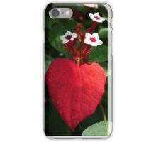 Close-up, red leaf iPhone Case/Skin