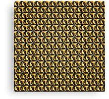Golden triangles background Canvas Print