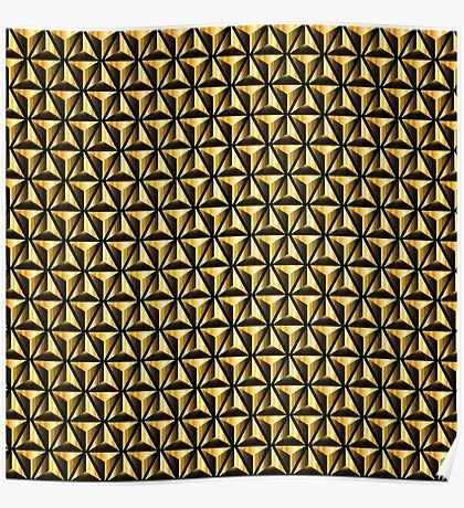 Golden triangles background Poster