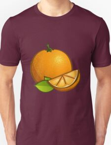 Orange with leaves T-Shirt