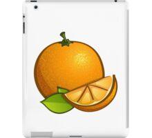 Orange with leaves iPad Case/Skin