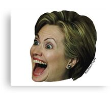 Hillary Clinton Wild Eyes Canvas Print