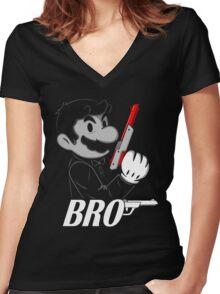 BRO Women's Fitted V-Neck T-Shirt