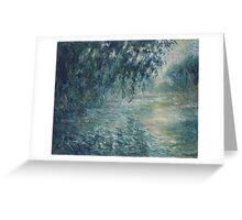 Claude Monet - Morning on the Seine (1898) Greeting Card