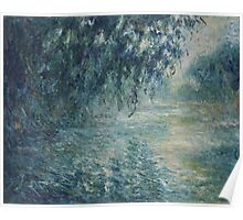Claude Monet French Impressionism Oil Painting Morning on the Seine (1898) Poster