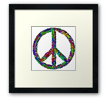 Peace Languages Framed Print