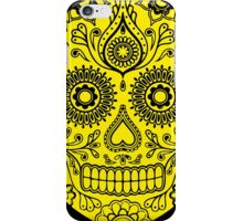 Mexican Death Skull, Yellow, day of the dead iPhone Case/Skin