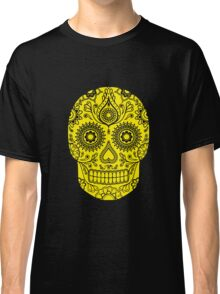 Mexican Death Skull, Yellow, day of the dead Classic T-Shirt