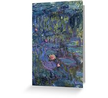 Claude Monet French Impressionism Oil Painting Waterlilies Greeting Card