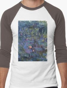 Claude Monet French Impressionism Oil Painting Waterlilies Men's Baseball ¾ T-Shirt