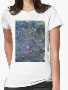 Claude Monet French Impressionism Oil Painting Waterlilies Womens Fitted T-Shirt
