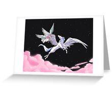 Pegasus winged unicorn - sailor cartoon Greeting Card