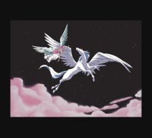 Pegasus winged unicorn - sailor cartoon Kids Tee