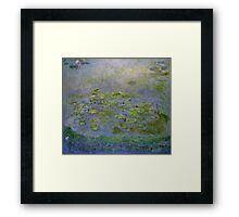 Claude Monet - Waterlilies , Impressionism Framed Print