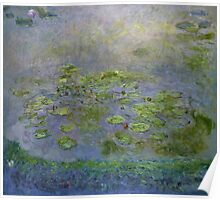 Claude Monet - Waterlilies , Impressionism Poster