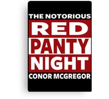 Red Panty Night Canvas Print