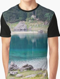 landscape of  blue lake in the mountain Graphic T-Shirt