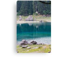 landscape of  blue lake in the mountain Canvas Print