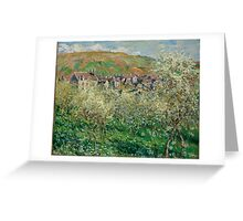 Claude Monet - Plum Trees in Blossom (1879) Greeting Card