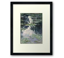 Claude Monet - Pond with Water Lilies (1907)  Impressionism Framed Print