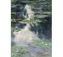 Claude Monet - Pond with Water Lilies (1907)  Impressionism Photographic Print