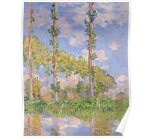 Claude Monet - Poplars in the Sun (1891) Poster
