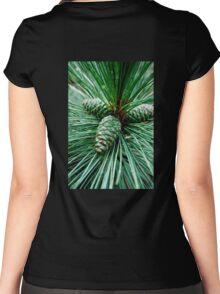 Pine Cones Women's Fitted Scoop T-Shirt