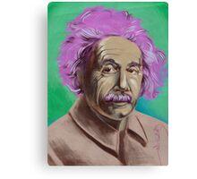 einstein portrait. Canvas Print