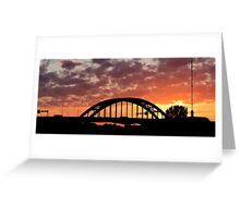 Lekbrug Vianen by sunset Greeting Card