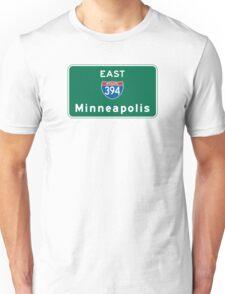 Minneapolis, Road Sign, Minnesota Unisex T-Shirt