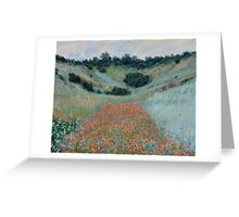 Claude Monet - Poppy Field in a Hollow near Giverny (1885) Greeting Card