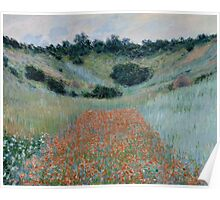 Claude Monet - Poppy Field in a Hollow near Giverny (1885) Poster