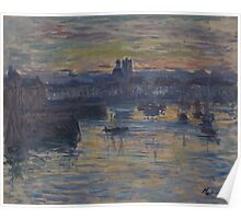 Claude Monet - Port of Dieppe  Evening, Impressionism Poster