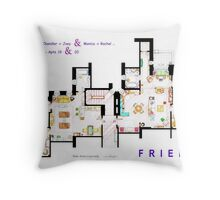 FRIENDS Apartment's Floorplans - V.2 Throw Pillow