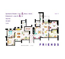 FRIENDS Apartment's Floorplans - V.2 Photographic Print
