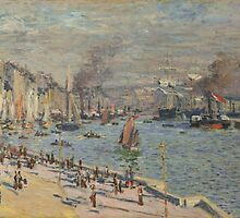 Claude Monet - Port of Le Havre (1874) by famousartworks