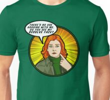 Resolve face. Your argument is invalid. Unisex T-Shirt